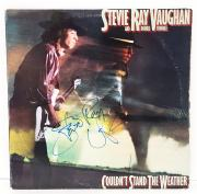 STEVIE RAY VAUGHAN & Double Trouble All 4 Signed Autographed Album LP PSA/DNA