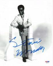 Stevie Wonder Authentic Autographed Signed 8x10 Photo PSA/DNA Certified
