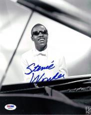 Stevie Wonder Authentic Autographed Signed 8x10 Photo PSA/DNA