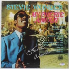 Stevie Wonder My Cherie Amour Signed Album Cover W/ Vinyl Psa/dna #v10776