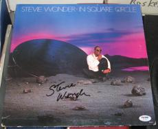 Stevie Wonder Pop Jazz Great Signed Autographed In Square Circle Album Psa/coa