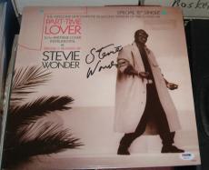 Stevie Wonder Pop Jazz Great Signed Autographed Part-time Lover Lp Album Psa/coa