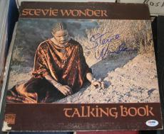 Stevie Wonder Pop Jazz Great Signed Autographed Talking Book Album Psa/coa 1972