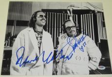 Stevie Wonder Quincy Jones Signed 11x14 Photo Authentic Autograph Psa/dna Coa