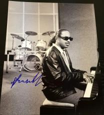 Stevie Wonder Signed Autograph Vintage Rare Classic Studio Piano 11x14 Photo Coa