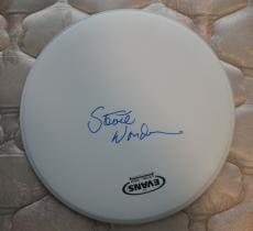 Stevie Wonder Signed Autographed Drumhead Exact Proof