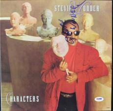 Stevie Wonder Signed Characters Album Cover PSA/DNA #V16042