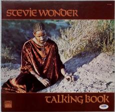 STEVIE WONDER Signed Talking Book Album LP Record PSA/DNA Auto Autograph