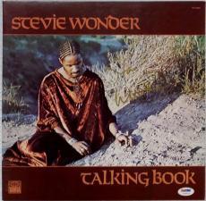 STEVIE WONDER Signed Talking Book Album LP Record PSA/DNA Auto Autograph