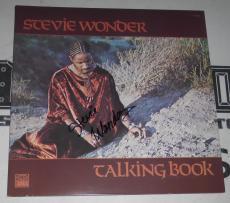 Stevie Wonder Signed Talking Book Record Album LP Cover PSA/DNA COA Autograph 72
