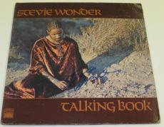 Stevie Wonder Signed Talking Book Vinyl Album Lp Authentic Autograph Coa