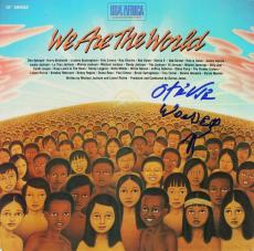 Stevie Wonder Signed We Are The World Album Cover W/ Vinyl PSA/DNA #G49989