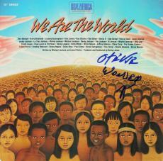 Stevie Wonder Signed We Are The World Album Cover W/ Vinyl PSA/DNA #G49989