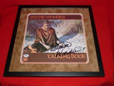 STEVIE WONDER talking book signed psa/dna framed  LP LOA proof