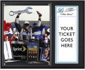 "Tony Stewart 2012 Kobalt Tools Winner ""I Was There"" 12"" x 15"" Plaque - Mounted Memories"