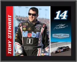 "Tony Stewart 2012 Mobil 1 Sublimated 10.5"" x 13"" Player Photo Plaque"