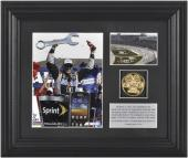 """Tony Stewart 2012 Kobalt Tools 400 Winner 6"""" x 8"""" Photo with Plate & Gold Coin - Limited Edition of 317"""