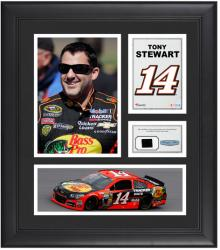 "Tony Stewart Framed 15"" x 17"" Collage with Race-Used Tire"
