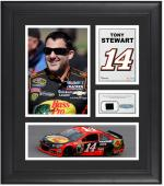 """Tony Stewart Framed 15"""" x 17"""" Collage with Race-Used Tire"""