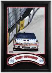 Tony Stewart Framed Iconic 16'' x 20'' Photo with Banner - Mounted Memories