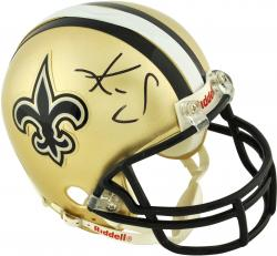 Kenny Stills New Orleans Saints Autographed Riddell Mini Helmet - - Mounted Memories