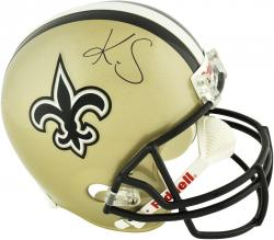Kenny Stills New Orleans Saints Autographed Riddell Replica Helmet - Mounted Memories