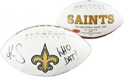 Kenny Stills New Orleans Saints Autographed White Panel Football - Mounted Memories