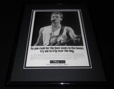 Sting 1992 The Disney Channel Framed 11x14 ORIGINAL Advertisement