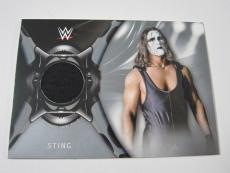 STING 2018 Topps WWE Road To Wrestlemania SHIRT RELIC Card #'d 9/25 SP RARE