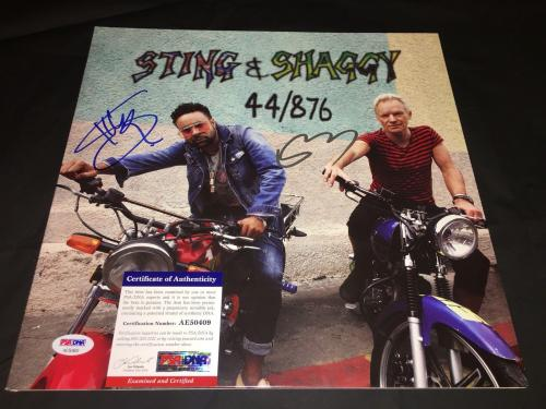 Sting And Shaggy Signed 44/876 Vinyl New Tour Together The Police PSA/DNA