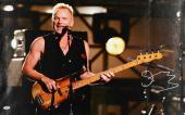 """Sting Autographed 20""""x 30"""" Black Vest Stretched Canvas - BAS COA"""