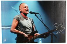 "Sting Autographed 20""x 30"" Side Veiw Stretched Canvas - BAS COA"