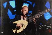 """Sting Autographed 20""""x 30"""" Suit Jacket Stretched Canvas - BAS COA"""