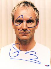 """Sting Autographed 8""""x 10"""" Posing in White Shirt Photograph With Hand Drawn Glasses - PSA/DNA COA"""
