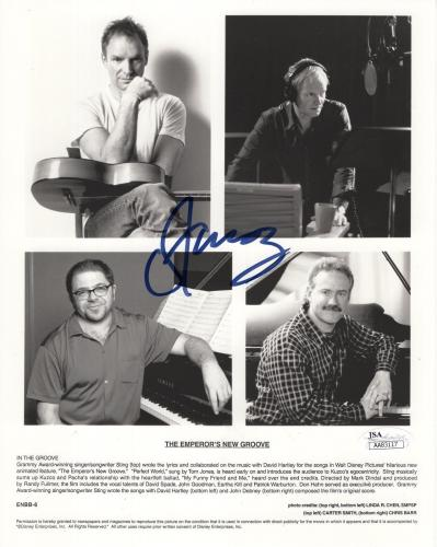 STING AUTOGRAPHED 8x10 PHOTO        AWESOME+RARE POSE       THE POLICE       JSA