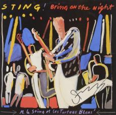 Sting Autographed Bring On The Night Album - PSA/DNA COA