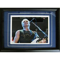 Sting Autographed Celebrity Framed 8x10 Photo