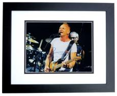 Sting Signed - Autographed concert 11x14 Photo BLACK CUSTOM FRAME - THE POLICE
