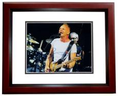 Sting Signed - Autographed concert 11x14 Photo MAHOGANY CUSTOM FRAME - THE POLICE