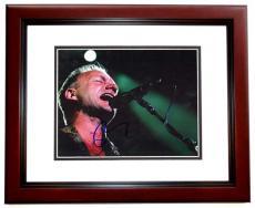 Sting Signed - Autographed Concert 8x10 Photo MAHOGANY CUSTOM FRAME