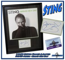 "STING Autographed CUSTOM FRAMED 24x30 ""Brand New Day"" POLICE Signed ALBUM"