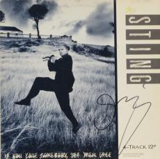 Sting Autographed If You Love Someone Set Them Free Single Album Cover - PSA/DNA COA