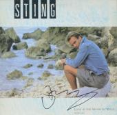 Sting Autographed Love Is The Seventh Wave Single Album Cover - PSA/DNA COA