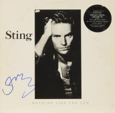 Sting Autographed Nothing Like The Sun Album Cover - PSA/DNA COA