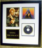 Sting autographed photo Dune framed matted with The Police Music CD size 11x16 (Singer Every Breath You Take)