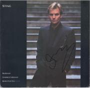 Sting Autographed Russians Single Album Cover - PSA/DNA COA