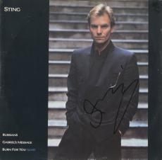 Sting Autographed Russians Single Album - PSA/DNA COA