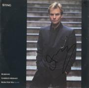 Sting Autographed Russians Single Album Cover - PSA/DNA COA