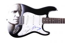 Sting Autographed Signed Custom Airbrush Guitar UACC RD