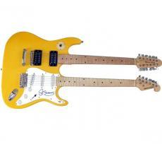 Sting Autographed Signed Doubleneck Guitar UACC RD COA